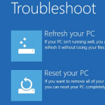 Refresh or Reset Your Windows 8 PC depending on your problem